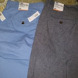 Mens 40 Slim cut Shorts 2 pairs HTF colors